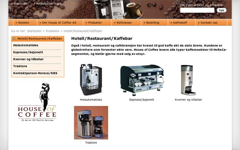 Produktkategorier - House of Coffee