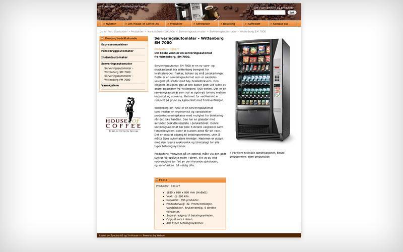 Produktpresentasjon - House of Coffee