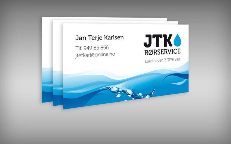 Visittkort for JTK Rørservice