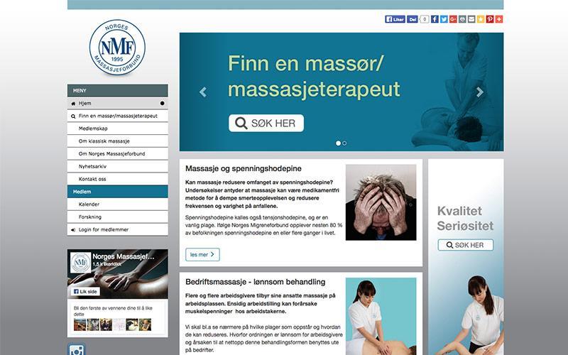 Webutvikling for Norges Massasjeforbund (2015)