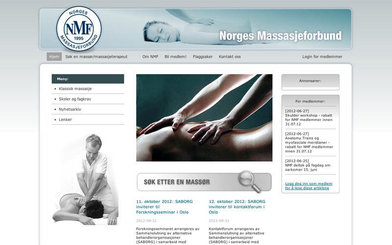 Webutvikling for Norges Massasjeforbund (2008)