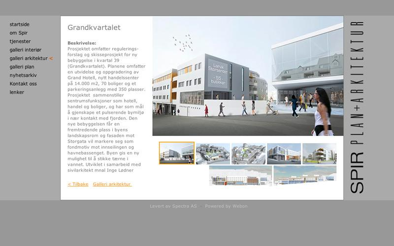 Webside - galleri for Spir Arkitekter